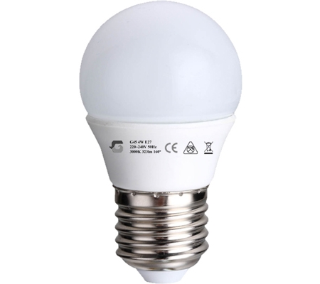 4W E27 LED izzó